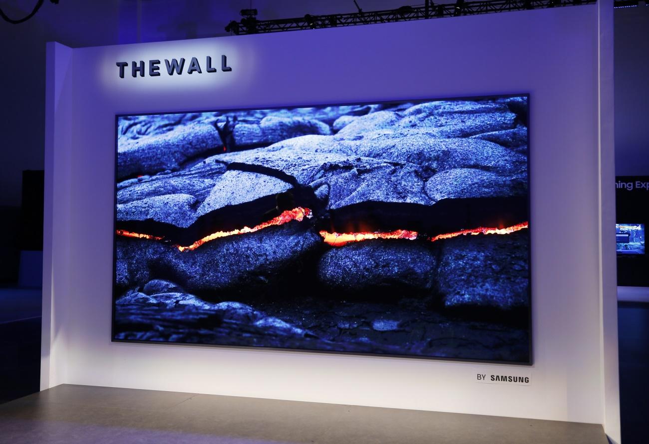 Samsung apresenta a primeira tela gigante com o emprego de MicroLEDs