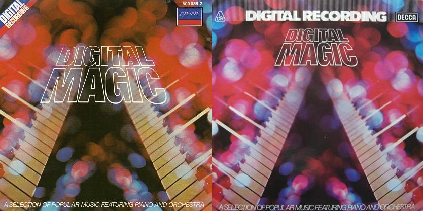 As capas da mesma gravação em elepê e CD, esquerda e direita, respectivamente
