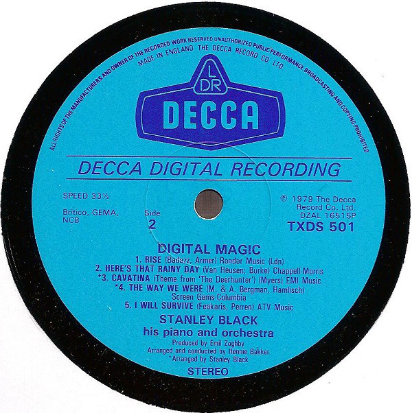 Album Digital Magic lançado pela Decca