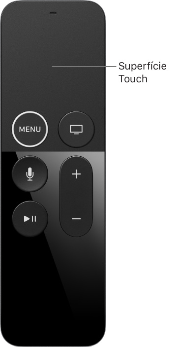 O controle remoto do Apple TV 4K HDR