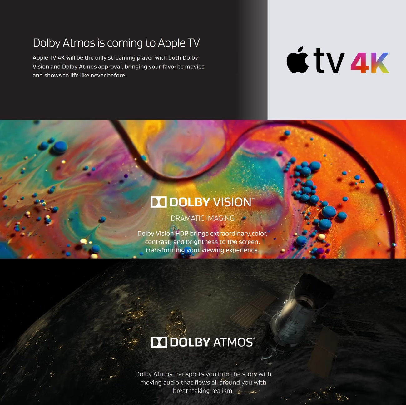 Dolby Atmos e Apple TV 4K