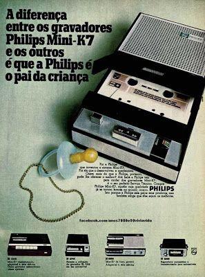 O gravador Philips portátil com fita cassete foi um sucesso de vendas