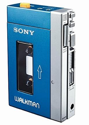 A fita cassete e o Walkman Sony