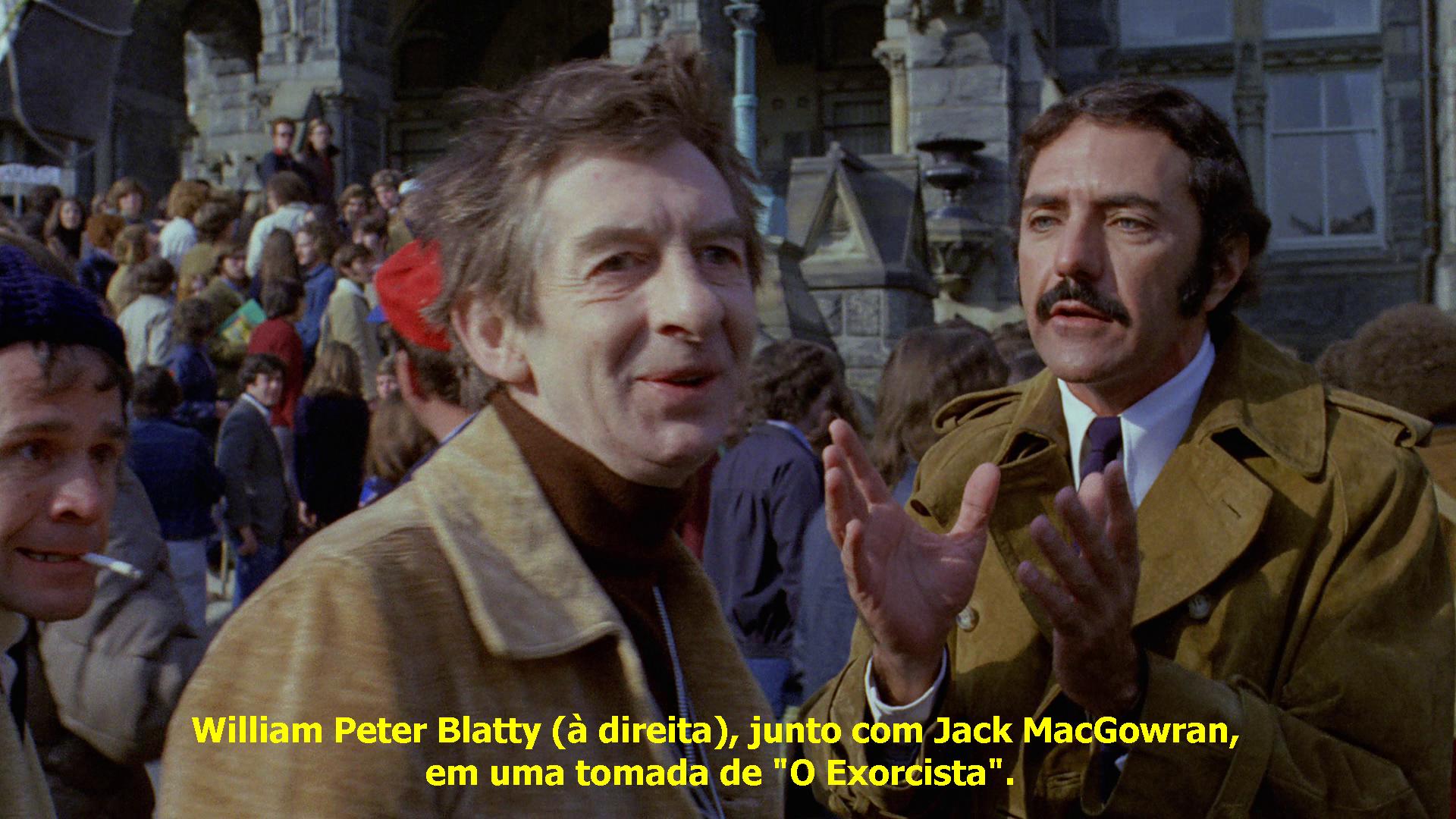 William Peter Blatty fez uma ponta sem créditos em uma das cenas de O Exorcista