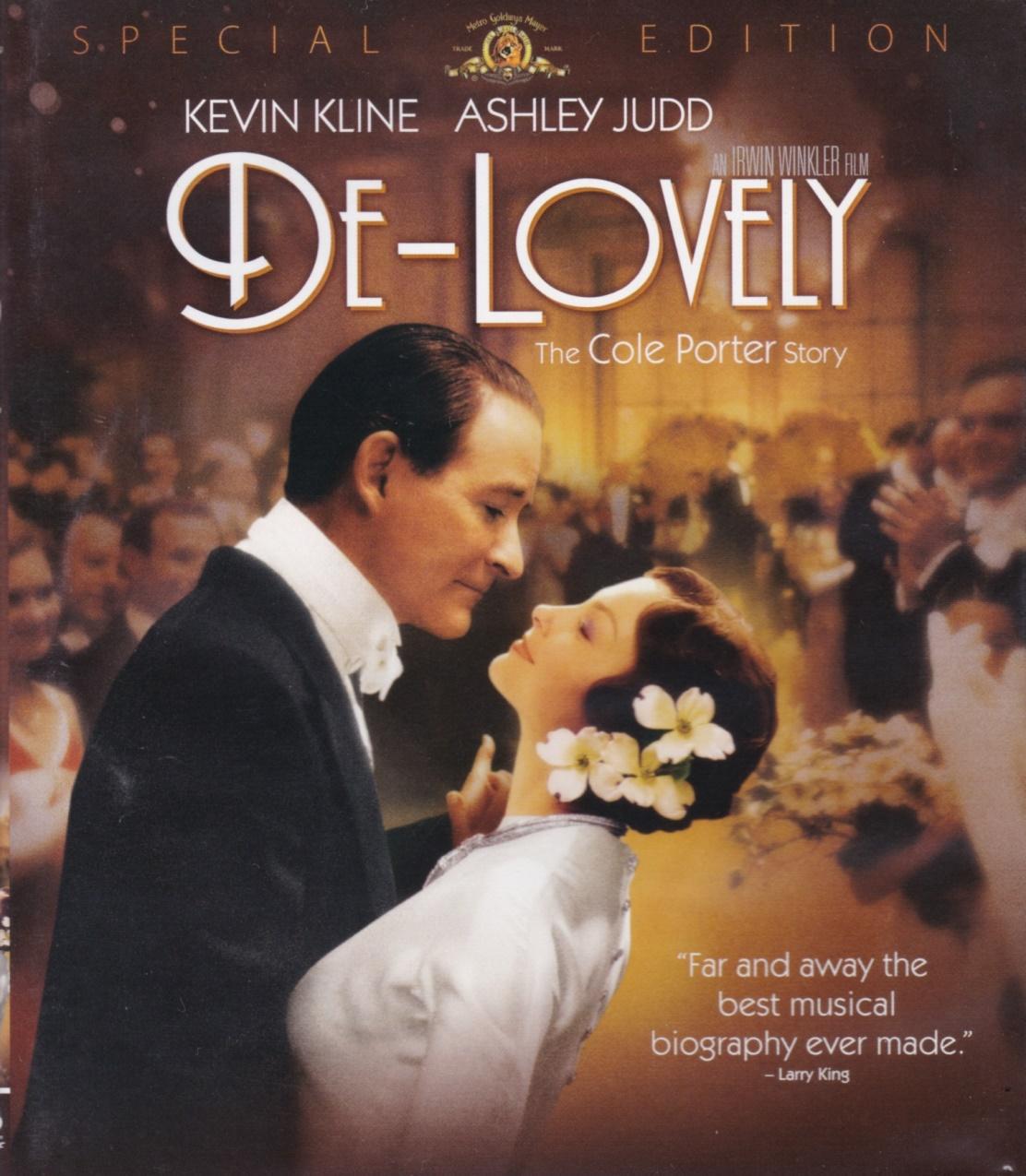 """De 2004, o filme """"De-Lovely"""" contém a biografia de Cole Porter, na forma de uma fantasia."""