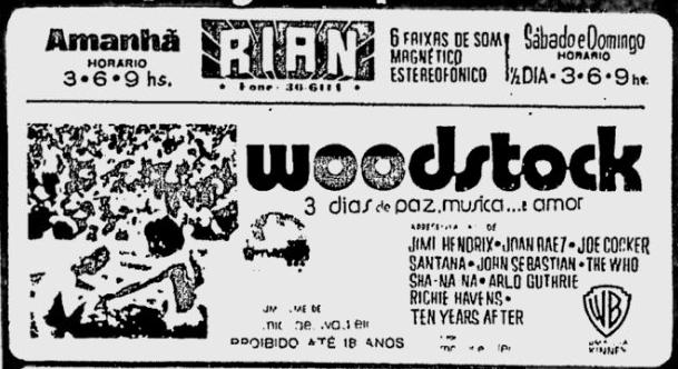 O som estereofônico no filme Woodstock