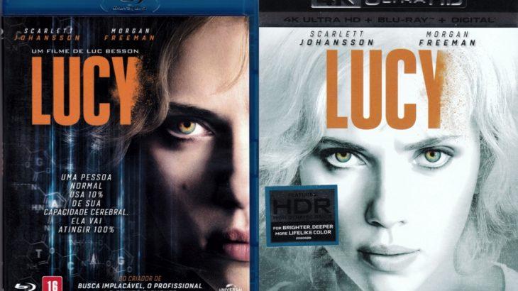 Lucy, o filme. Comparando 1080b Blue Ray com 2160p HDR Blu-Ray