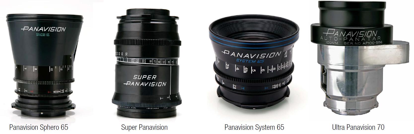 Diferentes lentes Panavision para o cinema