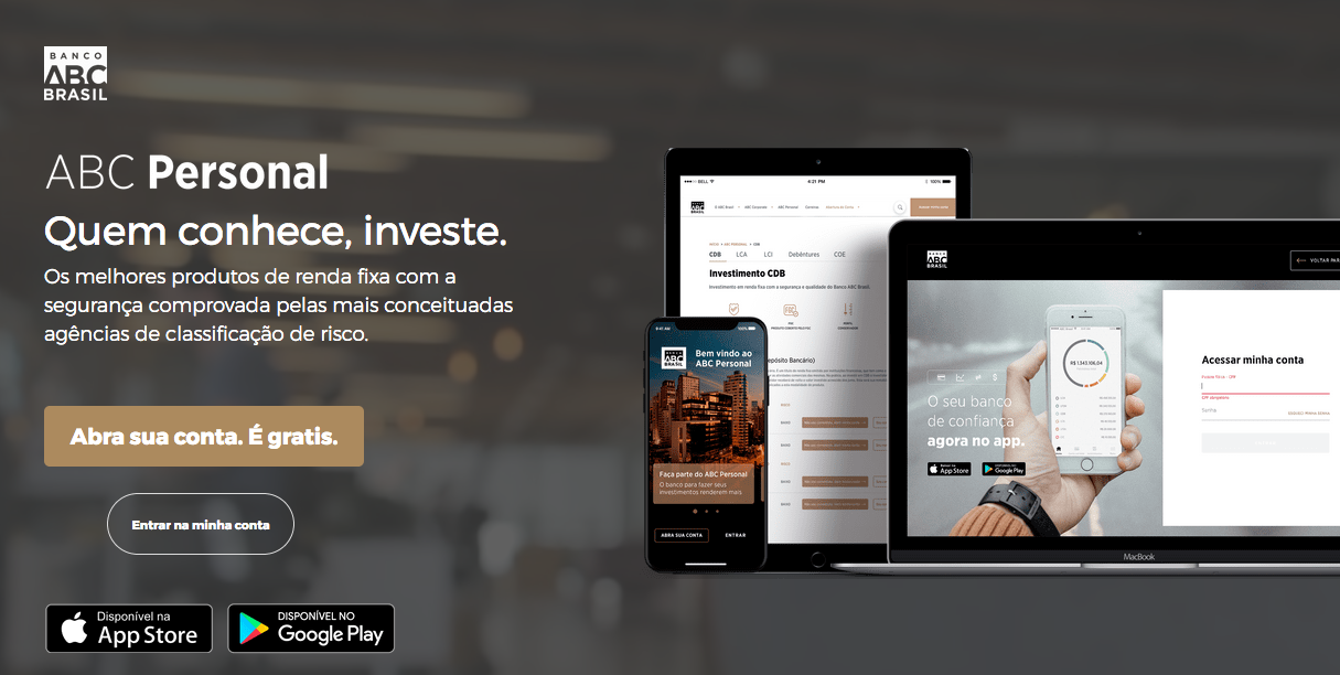 Site do Banco ABC